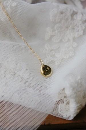 刻印のネックレス チェーンセット K18イエローゴールド