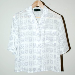 『Junior Gaultier』90s sheered shirt
