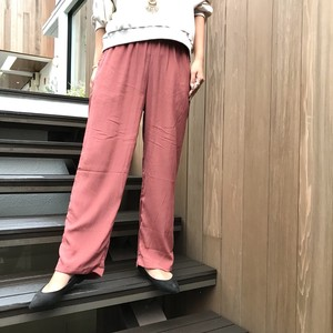 【BAD】rayon straight pants