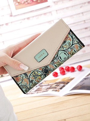 【accessories】Pastoral small floral color wallet