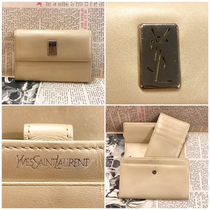 YSL  leather  wallet