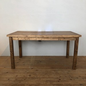 Original DINING TABLE  / OAK / wood leg