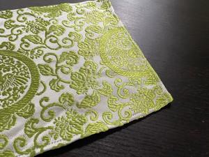 金蘭ポケットチーフ 裲襠模様 緑