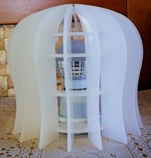 ランプシェードアクリル ドーム型 LEDランプ・ソケット付き 据え置きタイプ