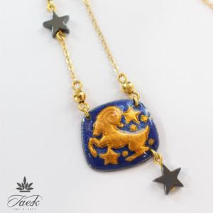 【ラッキーカラー赤】Wonder Box Zodiac 牡羊座 ネックレス