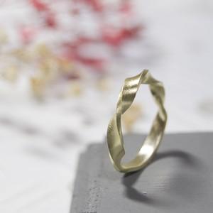 ブラスツイストリング 3.0mm幅 マット 3号~27号|WKS TWIST RING 3.0 bs matte|BRASS 真鍮 指輪 FA-223
