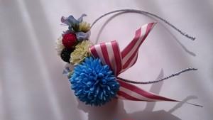華やかなお花カチューシャベリー