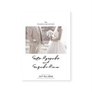 4Pプロフィールブック[タイプA]| 結婚式・ウェディングペーパーアイテム・海外風