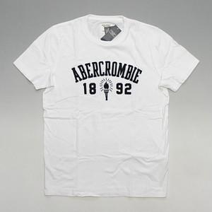 【メール便全国送料無料】Abercrombie&Fitch アバクロンビー&フィッチ 1892トーチロゴ ワッペン刺繍ロゴ Tシャツ ホワイト