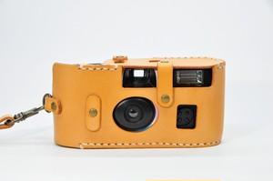 ヌメ革「写ルンです」カメラケース3型