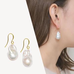 <選べるパール>【Sクラス】baroque pearl drop pierce / earring