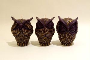 OWL/Black~Three wise owls~