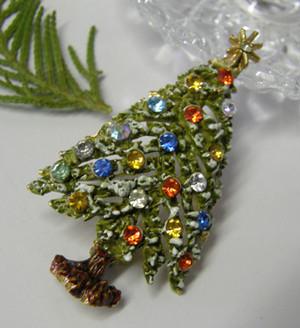 ヴィンテージブローチ ART クリスマスツリー