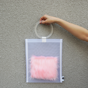 anti clone『hard tulle bag  WH/ペールピンク』