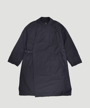 Engineered Garments EG MG Coat Cotton Double Cloth Black FG268