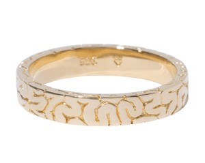 Brain Flat Ring Gold-Coating