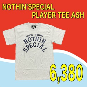 NOTHIN'SPECIAL / PLAYER TEE ASH