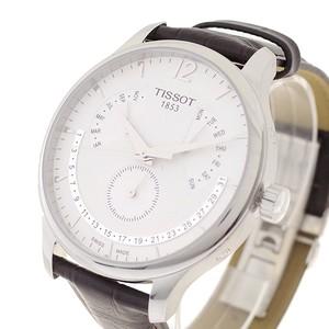 ティソ TISSOT 腕時計 メンズ T063.637.16.037.00 クォーツ ホワイト ダークブラウン