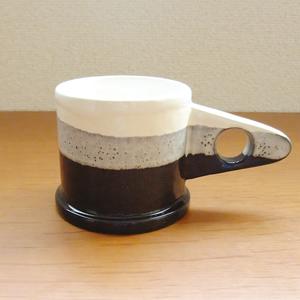 """Mug"" White×Black"