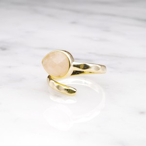 SINGLE STONE OPEN RING GOLD 023