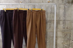 Design wide tapered slacks