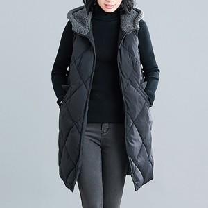 レディース アウター ダウン コート ベスト ノースリーブ フード 中綿 シンプル カジュアル 春夏 お出かけ 女子会 ブラック