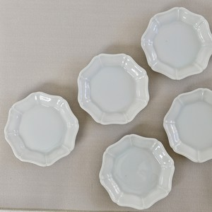 [KR30410]  九谷の白リンカ小皿 (1枚)昭和 / Kutani White Small Plates & Bowls / Showa Era