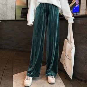 【ボトムス】ファッションベルベット生地 カジュアルガウチョパンツ26703200