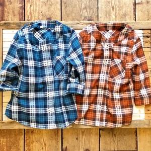 pony go round b.b nel check shirts xs~xxl
