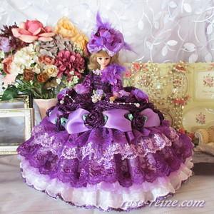 アメジストの王妃 パープルグラデーションドレス