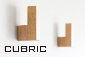 木製フックCUBRIC 2個