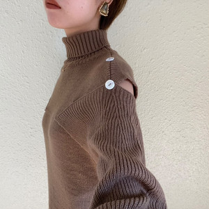 open shoulder knit one-piece【10/26n-22】