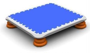 バンバンボード(青色)一般用スプリング 安全 で 音が響きにくい 人気 の 室内・家庭用 の おすすめトランポリン Blue クリスマスプレゼント