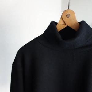 da woolknit highneck longsleeve / black