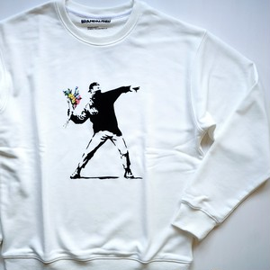 【BRANDALISED】BANKSY バンクシー FLOWER BOMBER SWEAT