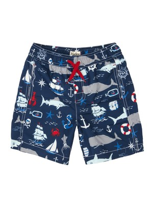 SALE Hatley Ocean Boy'sトランクス水着(SPF50) VintageNautical SwimTrunks