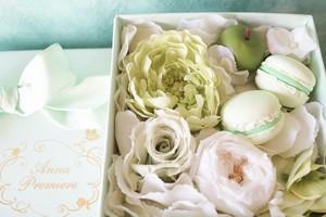アロマストーンボックスフラワー/マカロン SS  ミントグリーン(Box Flower Mint Green SS)