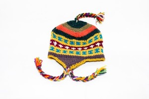ネパール製ウールニット帽です!フリース付きでとっても暖かい!
