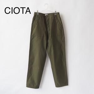 CIOTA/シオタ・スビンコットンバックサテンベイカーパンツ