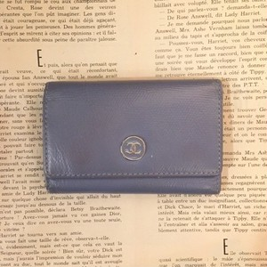CHANEL leather key case