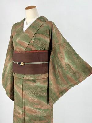 小紋 袷着物 着物 きもの カジュアル着物 仕立て上がり 送料無料 リサイクル着物 中古 身丈147cm 裄丈62.5cm