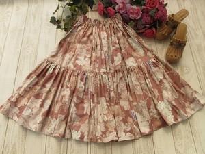 アンティークな葡萄のロングスカート