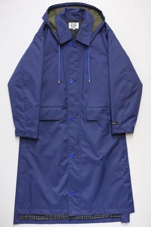 SIDE VENTS LONG COAT (BLUE)