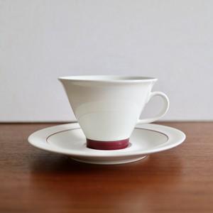 [SOLD OUT] Arabia アラビア / Harlekin Red Hat ハレキン レッドハット コーヒーカップ&ソーサー A
