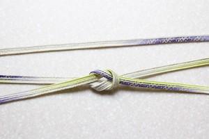 本貝ノ口組「料紙」紫・鶸〈帯締め〉