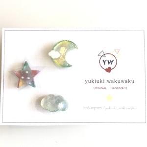yukiuki wakuwaku ゆめかわ3点ピアスセット