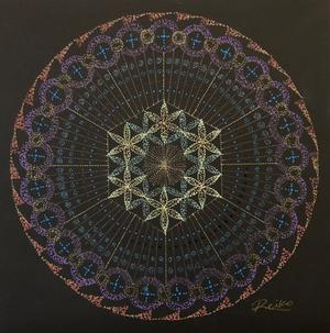 曼荼羅アートNo.19 「紡ぐ」