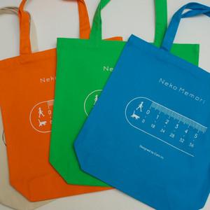 【限定品】ネコメモリ トートバッグ (生成り、ブラック他全 5色)
