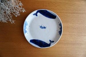 砥部焼/平皿/くじら/森陶房kaori
