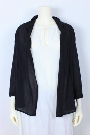 KHADI COTTON Cardigan 品番:271511 col.19 Black